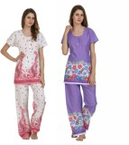 Miavii Women's Printed Multicolor Top & ...
