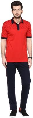 Cayman Men's Solid Red Top & Pyjama Set