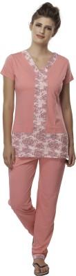Second SKIN Women's Printed Multicolor Top & Pyjama Set