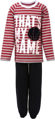Pepito Boy's Striped Red Top & Pyjama Set