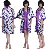 Fascinating Women's Printed Purple Top &...