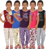 Meril Kids Nightwear Girls Printed Cotto...