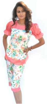 Miss-Me Women's Solid Multicolor Top & Capri Set