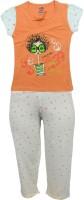 Kothari Kids Nightwear Girls Printed Cotton