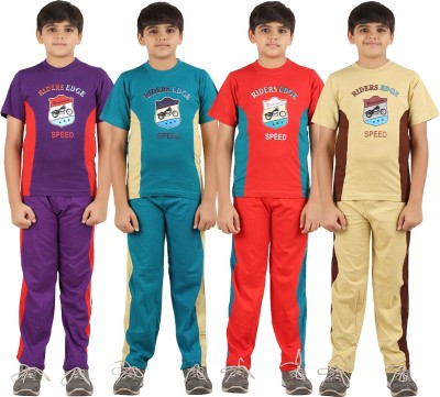 Zippy Boys Printed Multicolor Top & Pyjama Set