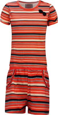 Kothari Baby Boy's Striped Multicolor Top & Pyjama Set