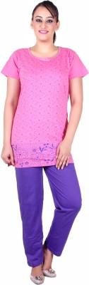 Di Tutti Women's Floral Print Pink Top & Pyjama Set