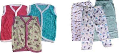 Aryas Flowers Baby Boy's Printed Multicolor Top & Pyjama Set