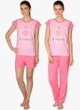 Lazy Dazy Women's Printed White, Pink To...