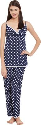 Clovia Women's Printed Blue Top & Pyjama Set at flipkart