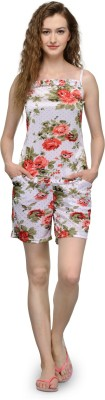 Being Fab Women,s Floral Print Multicolor Top & Shorts Set
