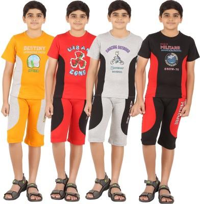 Zippy Boys Printed Multicolor T-shirt & Three-forth Set