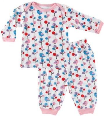 Hudson Baby Baby Girl's Printed Multicolor Top & Pyjama Set