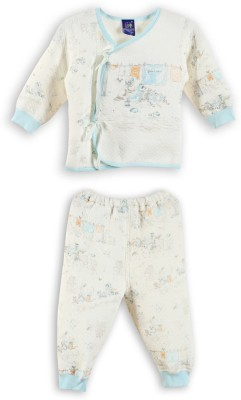 Lilliput Baby Boys Printed Light Blue Top & Pyjama Set