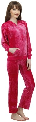 Camey Women's Solid Red Top & Pyjama Set