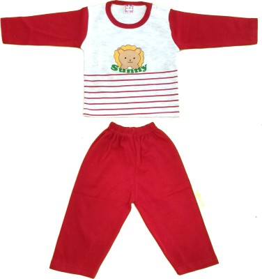 Kandy Floss Baby Boy's Animal Print Red Top & Pyjama Set