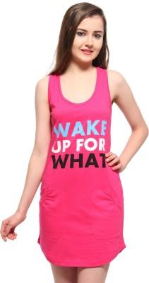 Slumber Jill Women's Graphic Print Red Sleepshirt