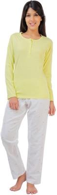 Penny by Zivame Women,s Solid Multicolor Top & Pyjama Set