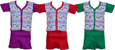 Tiny Toon Baby Boy's Printed Multicolor Top & Shorts Set
