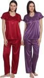 eSOUL Women's Self Design Maroon, Purple...