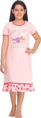 Kanvin Girl's Printed Pink Sleepshirt