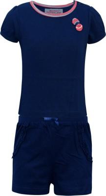Kothari Baby Boy's Solid Multicolor Top & Pyjama Set