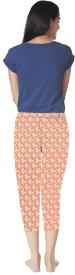 Mystere Paris Women's Printed Blue Top & Shorts Set