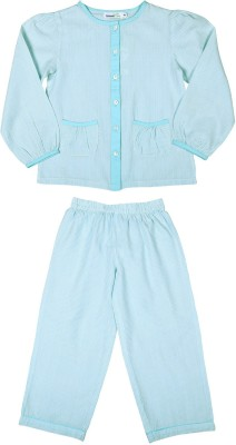 ShopperTree Night Suit Boy's Striped Multicolor Top & Pyjama Set