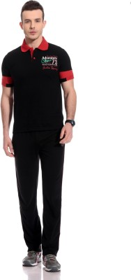 TAB91 Fashion Forecast Men's Solid Black Top & Pyjama Set