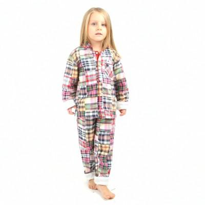 Cherry Crumble California Girl's Checkered Pink Top & Pyjama Set