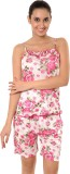 Go Glam Women's Floral Print Pink Top & ...