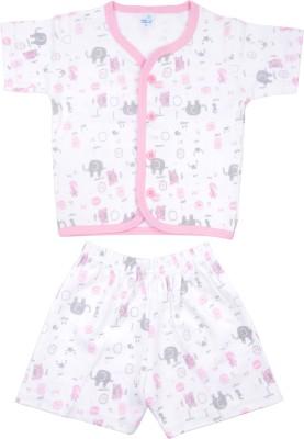 Kandy Floss Baby Boy's Animal Print Pink Top & Shorts Set