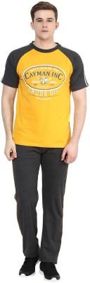 Cayman Men's Printed Yellow Top & Pyjama Set