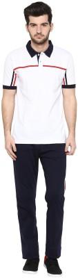 Cayman Men's Solid White Top & Pyjama Set