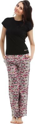 The Boxer Store Women's Printed Multicolor Top & Pyjama Set