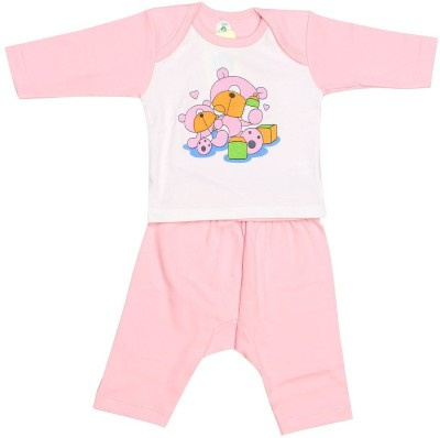 Babeezworld Baby Boy's Printed Pink Sleepshirt