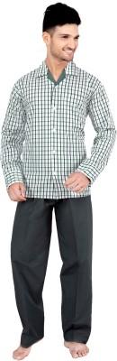 Tatwam Woven Men's Checkered Multicolor Top & Pyjama Set