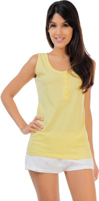 Penny by Zivame Women,s Solid Multicolor Top & Shorts Set