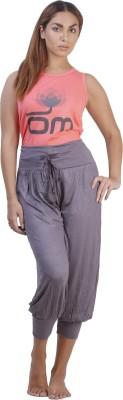 July Cotton Two Piece Women's Printed Pink, Grey Top & Capri Set