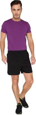LUCfashion Men's Self Design Black, Purple Top & Shorts Set
