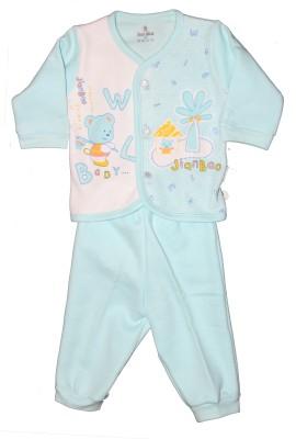 Child World Baby Boy's Animal Print Blue Top & Pyjama Set