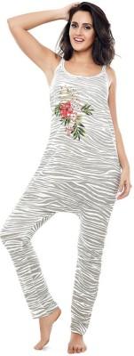 Coucou by Zivame Women's Printed Multicolor Top & Pyjama Set