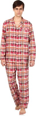 Oxolloxo Men's Checkered Multicolor Top & Pyjama Set