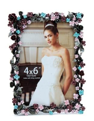 Bijou Handicraft Flower Metal Photo Frame