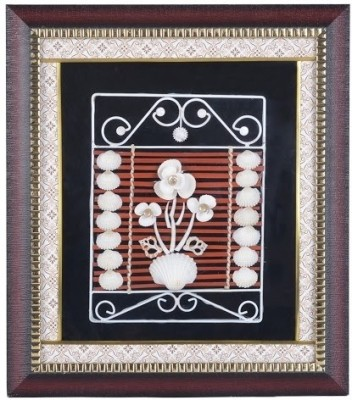 M.S Shell Crafts Glass Photo Frame