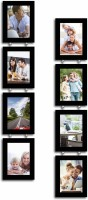 Painting Mantra Glass Photo Frame(Black, 8 Photos)