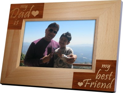 Tiedribbons Wood, Glass Photo Frame