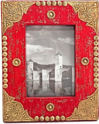 MohanJodero Wood, Metal Photo Frame