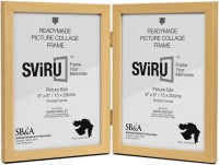 Sviru Glass Photo Frame(Beige, 2 Photos)