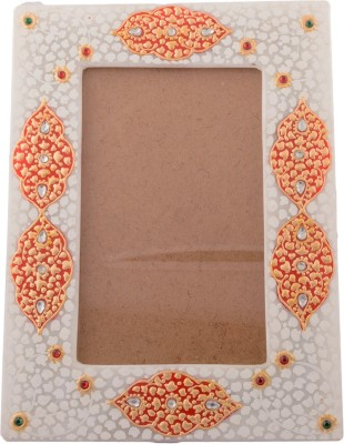 eCraftIndia White Marble Photo Frame